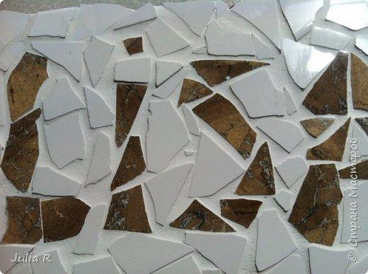 Мозаика из отделочной плитки. Выложено имя ЛИЗА . фото 1