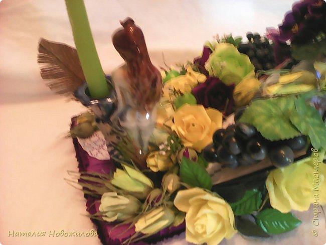 Снова заказ мужа для коллеги, пока он мой основной заказчик. Подарок на день рождения учителя русского и литературы, любимые цветы - фиалки, любимые цвета - желтый и зеленый. В результате вот , что у меня получилось, по моему в точку... фото 2