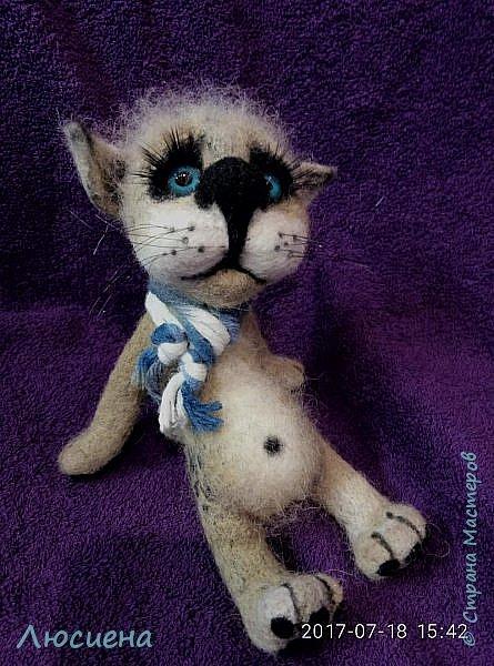 Котик из натуральной шерсти фото 2