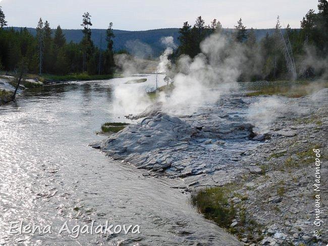 Хочу поделится впечатлениями от поездки в Йе́ллоустон (Yellowstone National Park)— международный биосферный заповедник, объект Всемирного Наследия ЮНЕСКО, первый в мире национальный парк (основан 1 марта 1872 года).  Находится в США, на территории штатов Вайоминг, Монтана и Айдахо.  Парк знаменит многочисленными гейзерами и другими геотермическими объектами, богатой живой природой, живописными ландшафтами.  ( взято из Википедии ) Мы останавливались в кемпингах в палатках. Парк произвел на нас огромное впечатление. Очень хочется поделится с вами красотой которую я увидела.  фото 25