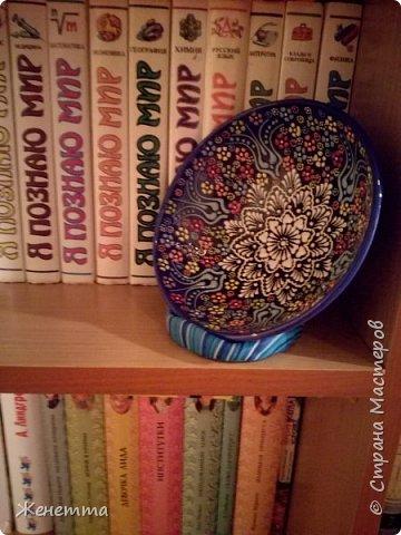 Подставка для декоративной тарелочки из полимерной глины фото 5