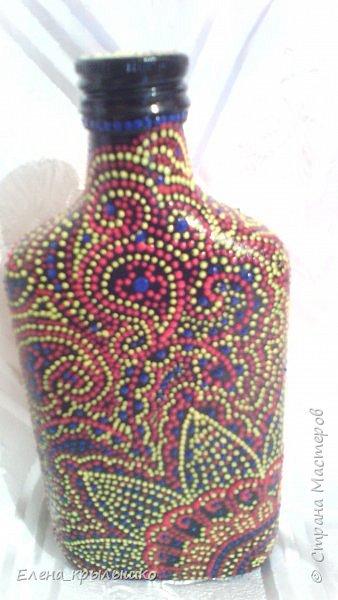 Первая роспись точечками,чехол для очков,использовала контур по стеклу и керамике DECOLA (Санкт-Петербург) фото 6