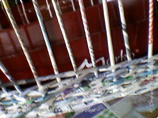 Поднос из газетных трубочек -первый опыт.  Нашла в Интернете на сайте https://www.youtube.com/watch?v=CtcxFU2hoMA     даны очень хорошие методические рекомендации фото 10