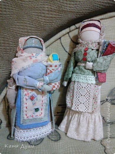 Народные куколки из натуральных материалов, сотворённые с любовью) фото 2