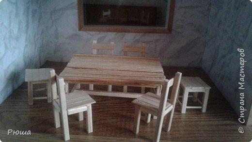 Вот такая мебель у меня получилась в столовую домика, для куколок фото 1