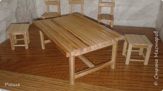 Вот такая мебель у меня получилась в столовую домика, для куколок фото 2