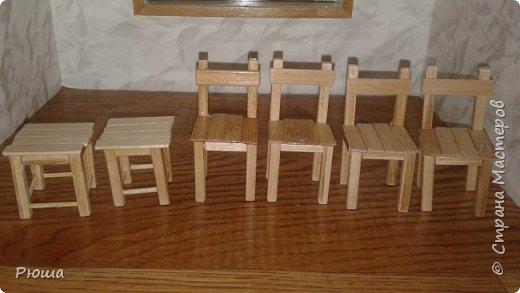 Вот такая мебель у меня получилась в столовую домика, для куколок фото 3