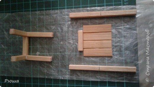 Вот такая мебель у меня получилась в столовую домика, для куколок фото 9