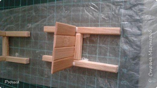 Вот такая мебель у меня получилась в столовую домика, для куколок фото 10