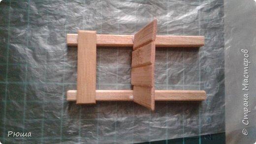 Вот такая мебель у меня получилась в столовую домика, для куколок фото 12