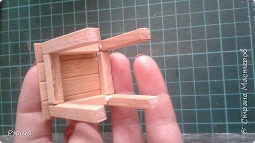Вот такая мебель у меня получилась в столовую домика, для куколок фото 13