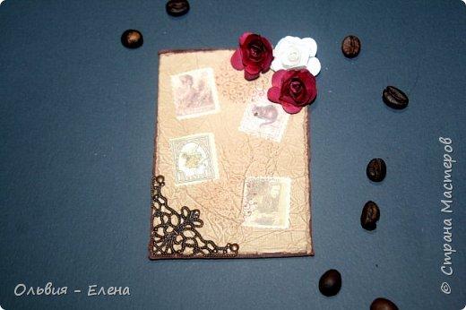 Всем добрый день. Настала и наша очередь делать карточки атс. вот такую коллекцию карточек сделала моя дочь Кристина  название Алиса в стране чудес. листочки состарены кофе с корицей фото 2