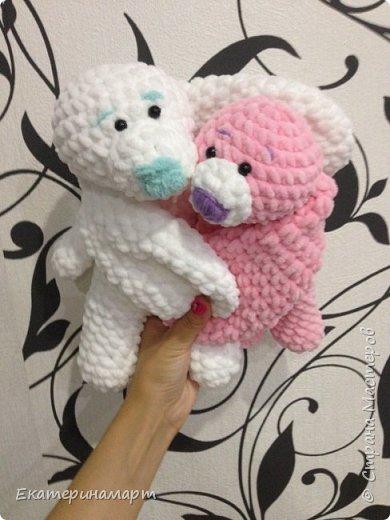 Зефирные зайчатки-сплюшки для моих детей =) белый - для сына, розовый - для дочи =) Маша даже сказала, что они как братик и сестричка =) фото 1