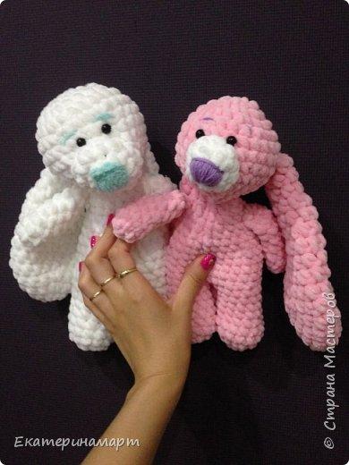 Зефирные зайчатки-сплюшки для моих детей =) белый - для сына, розовый - для дочи =) Маша даже сказала, что они как братик и сестричка =) фото 6