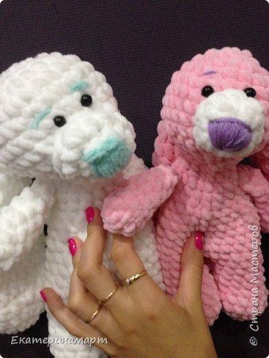 Зефирные зайчатки-сплюшки для моих детей =) белый - для сына, розовый - для дочи =) Маша даже сказала, что они как братик и сестричка =) фото 4