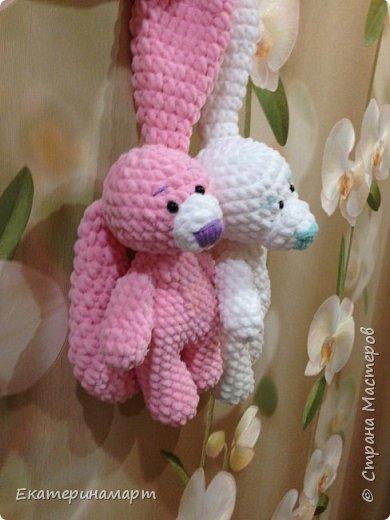 Зефирные зайчатки-сплюшки для моих детей =) белый - для сына, розовый - для дочи =) Маша даже сказала, что они как братик и сестричка =) фото 5