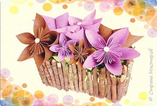 Цветы оригами в коробочке ферреро роше