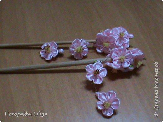 Трансформация палочек для суши в заколки для волос с цветом сакуры