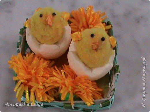 Пасхальный цыпленок для подарочной композиции