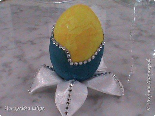 Подставка канзаши для декоративного пасхального яйца