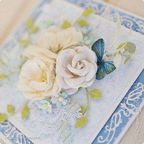 Здравствуйте!!! Свадебный бум продолжается! Погода налаживается и поэтому у меня синее небо, белые облака и незабудки..... фото 4