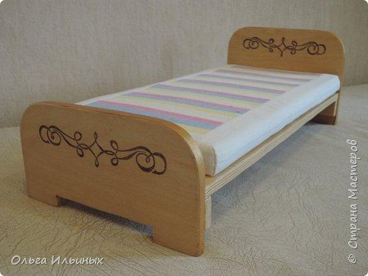 На день рождения для маленькой девочки Мирославы сделала такую кроватку и сшила постельку. фото 11
