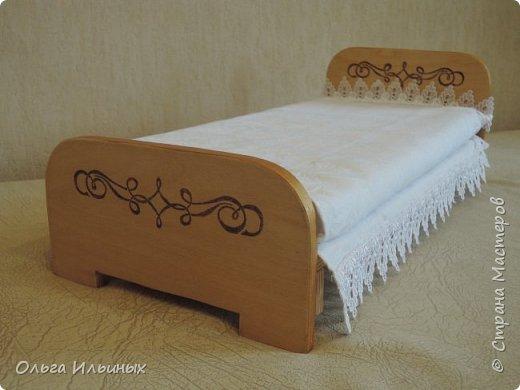 На день рождения для маленькой девочки Мирославы сделала такую кроватку и сшила постельку. фото 12