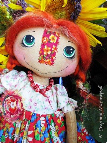 Куклы были сшиты давно и  только сейчас я их окончательно доделала. Куколки тонированы кофе и корицей, лицо нарисовано красками. фото 10