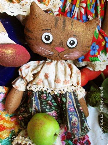 Куклы были сшиты давно и  только сейчас я их окончательно доделала. Куколки тонированы кофе и корицей, лицо нарисовано красками. фото 12