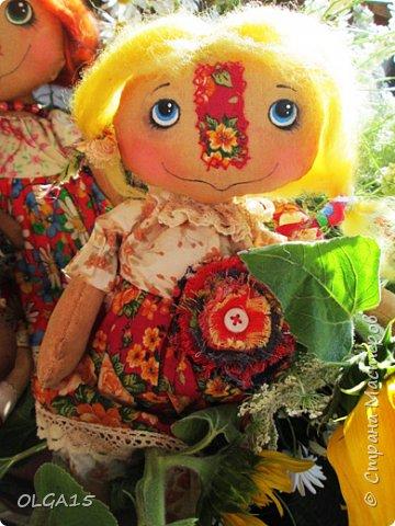 Куклы были сшиты давно и  только сейчас я их окончательно доделала. Куколки тонированы кофе и корицей, лицо нарисовано красками. фото 13