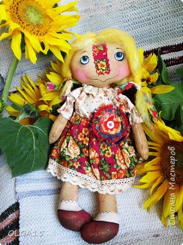 Куклы были сшиты давно и  только сейчас я их окончательно доделала. Куколки тонированы кофе и корицей, лицо нарисовано красками. фото 3