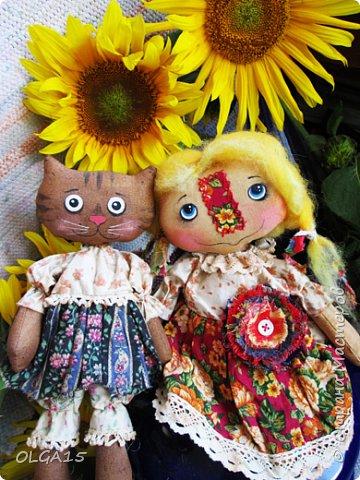 Куклы были сшиты давно и  только сейчас я их окончательно доделала. Куколки тонированы кофе и корицей, лицо нарисовано красками. фото 6