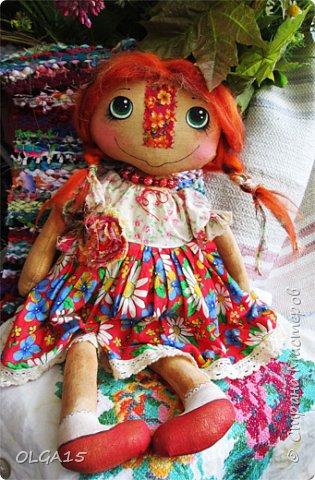 Куклы были сшиты давно и  только сейчас я их окончательно доделала. Куколки тонированы кофе и корицей, лицо нарисовано красками. фото 17