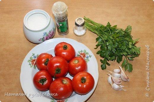 Добрый день, Страна Мастеров! На грядках поспели помидоры и пора уже их готовить.  Сегодня я решила сделать малосольные помидоры в пакете за одни сутки. Рецепт внизу. Завтра добавлю фото готовых помидоров на тарелочке, а пока только то что есть - в пакете. фото 2