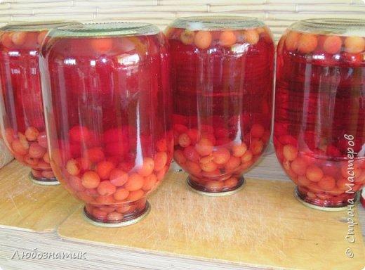 Здравствуйте мои дорогие! Всех очень рада видеть на своей страничке!!!  Сегодня хочу вам рассказать, как я варю компот (заготовка на зиму) из ягод черешни. Пользуюсь этим рецептом давно и варила из разных ягод, результатом довольна :-) Компот получается не очень сладким и вкусным. Легко пьется и не требуется дополнительное разведение водой. фото 15