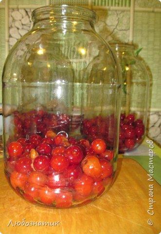 Здравствуйте мои дорогие! Всех очень рада видеть на своей страничке!!!  Сегодня хочу вам рассказать, как я варю компот (заготовка на зиму) из ягод черешни. Пользуюсь этим рецептом давно и варила из разных ягод, результатом довольна :-) Компот получается не очень сладким и вкусным. Легко пьется и не требуется дополнительное разведение водой. фото 2
