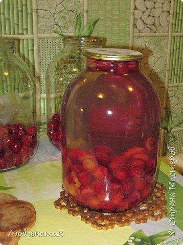 Здравствуйте мои дорогие! Всех очень рада видеть на своей страничке!!!  Сегодня хочу вам рассказать, как я варю компот (заготовка на зиму) из ягод черешни. Пользуюсь этим рецептом давно и варила из разных ягод, результатом довольна :-) Компот получается не очень сладким и вкусным. Легко пьется и не требуется дополнительное разведение водой. фото 4