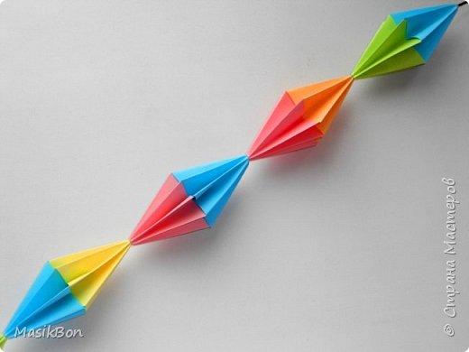 Как сделать гирлянду из бумаги.Праздничные Оригами поделки
