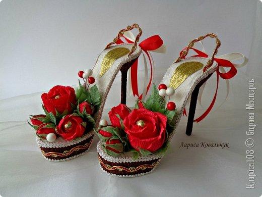Доброго дня всем! Как я и обещала выкладываю свои работы, которые я называю дамские штучки - сумочки и туфельки. Этот комплект сделан на 55 летие для современной, энергичной и яркой женщины. Цветовая гамма по желанию заказчицы. фото 10