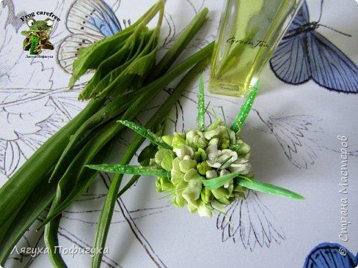 Серьги, кольцо и подвеска с нежнейшими бутонами,почками и листиками, на которых капельки росы.  фото 2