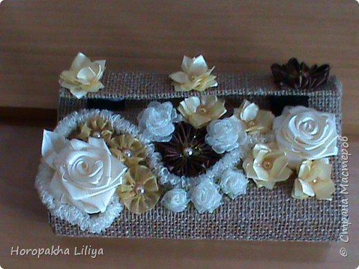 Креативный клатч-сумочка для наших маленьких модниц с цветами канзаши фото 1