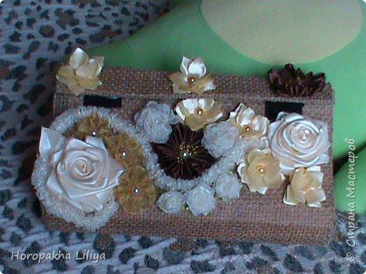 Креативный клатч-сумочка для наших маленьких модниц с цветами канзаши фото 2