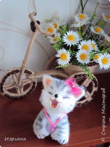 """Доброго дня всем! """"А у нас сегодня кошка родила вчера котят, котята выросли немножко, но есть из блюдца не хотят..."""" Ну конечно же, они ведь игрушки валяные! фото 8"""