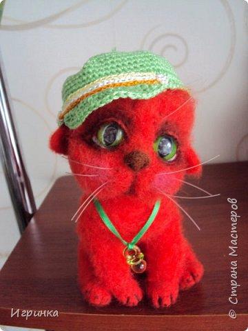 """Доброго дня всем! """"А у нас сегодня кошка родила вчера котят, котята выросли немножко, но есть из блюдца не хотят..."""" Ну конечно же, они ведь игрушки валяные! фото 5"""