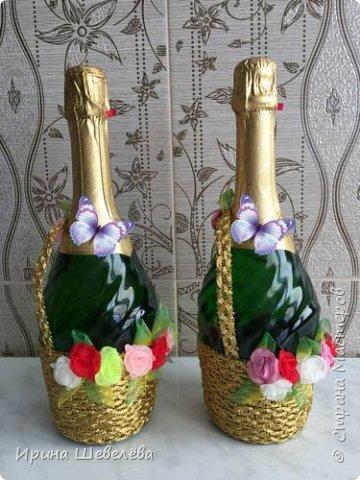 К концу учебного 2017 года появились две бутылочки-корзинки с цветами ко дню рождения коллегам. фото 5