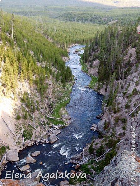 Продолжаю делится впечатлениями от поездки в Йе́ллоустон (Yellowstone National Park)— международный биосферный заповедник, объект Всемирного Наследия ЮНЕСКО, первый в мире национальный парк (основан 1 марта 1872 года). Находится в США, на территории штатов Вайоминг, Монтана и Айдахо. Парк знаменит многочисленными гейзерами и другими геотермическими объектами, богатой живой природой, живописными ландшафтами. ( взято из Википедии ) Мы останавливались в кемпингах в палатках. Парк произвел на нас огромное впечатление. Очень хочется поделится с вами красотой которую я увидела.  В один фоторепортаж трудно вместить все увиденное.  фото 32