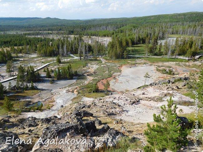 Продолжаю делится впечатлениями от поездки в Йе́ллоустон (Yellowstone National Park)— международный биосферный заповедник, объект Всемирного Наследия ЮНЕСКО, первый в мире национальный парк (основан 1 марта 1872 года). Находится в США, на территории штатов Вайоминг, Монтана и Айдахо. Парк знаменит многочисленными гейзерами и другими геотермическими объектами, богатой живой природой, живописными ландшафтами. ( взято из Википедии ) Мы останавливались в кемпингах в палатках. Парк произвел на нас огромное впечатление. Очень хочется поделится с вами красотой которую я увидела.  В один фоторепортаж трудно вместить все увиденное.  фото 37
