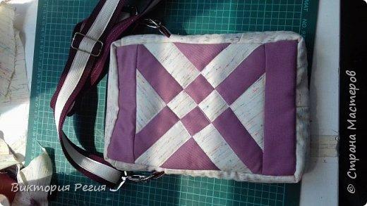 Сшила сумку для планшета.Срочно нужна была сумка,и блок красивый попробовала. Блок называется Оперенная стрела.Очень красиво и просто.  фото 1