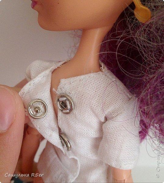"""Всем доброго времени суток! Надеюсь, ваше лето проходит отлично! Я вернулась после долгого отсутствия. Я почти не подавала признаков жизни на этом сайте. Но мне надоело ничего не делать, поэтому я взялась за своих кукол. Я надеюсь, что вы не думали, что я забросила своих кукол, мол: """"Выросла"""". Не, как бы не так! Я всё ещё люблю своих кукол, даже покупаю новых. Зимой ко мне приехал мальчик из ЭАХ - Алистер, в скором времени ждите с ним блог.  Если вам интересно, где я пропадала, то оставайтесь со мной. Да даже, если не интересно, всё равно оставайтесь. Фотографии нарядика для Медди посмотрите) фото 15"""