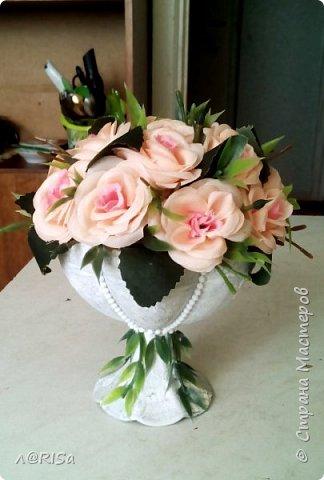 Была сахарница, теперь вазон с розами ))